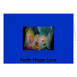 Photo 666, Faith Hope Love Card