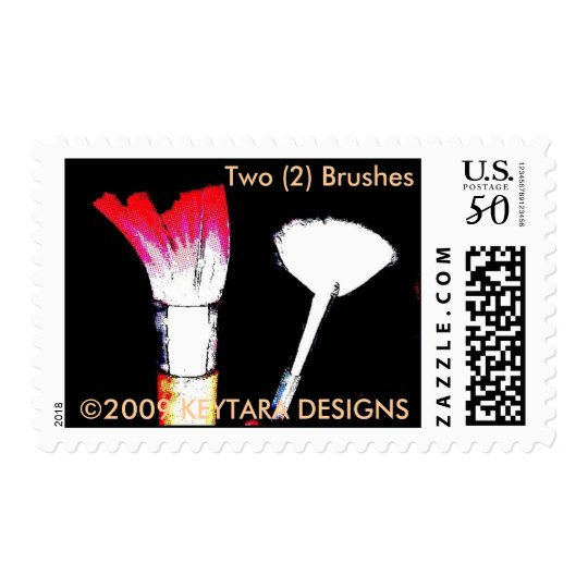 Photo 7366, Two (2) Brushes, 2009 KEYTARA DESIGNS Postage