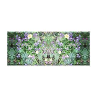 Photo 772 Flower Dapple Mirror Panel Canvas Print