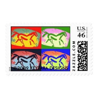 KEYTARA HORSE DESIGNS stamp