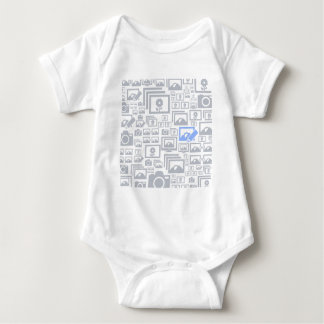 Photo a background baby bodysuit