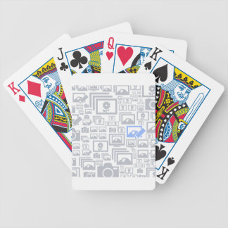 Photo a background bicycle playing cards