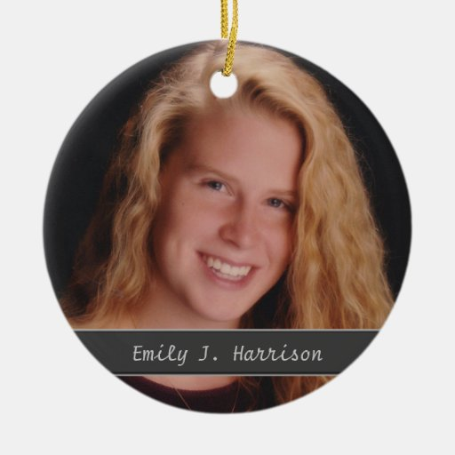Photo Add Name and Text Keepsake Ornament
