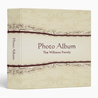 Photo Album Elegant Scroll Pattern Vinyl Binder