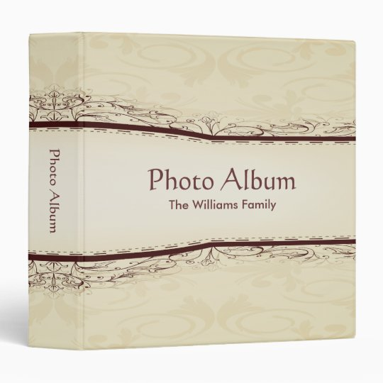 Photo Album Elegant Scroll Pattern Binder