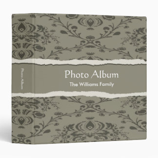 Photo Album Elegant Torn Pattern 3 Ring Binder