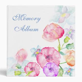 Photo Album Elegant Watercolor Floral Binder
