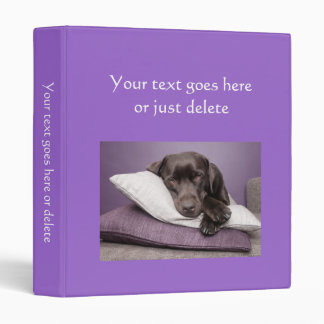 Photo Album plain brigh purple custom photo binder