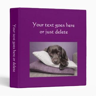 Photo Album plain dark purple custom photo binder