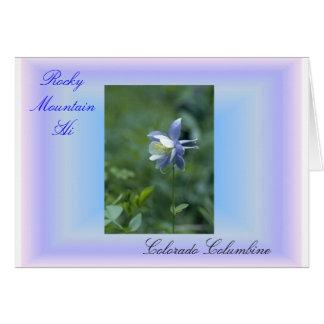 Photo Album rocky mtn hi, 1 Colorado Columbine... Greeting Card