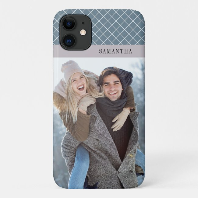 Photo and Blue Accents Personalized Case-Mate iPhone Case