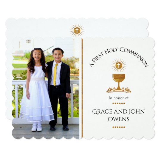 Photo And Chalis First Communion Invitation