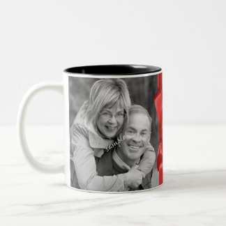 Photo and Chalkboard Holiday Messages Mugs