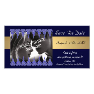 Photo and lace save the date wedding announcements photo card template