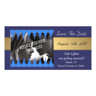 Photo and lace save the date wedding announcements photo greeting card