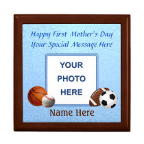 Photo and Name First Mother's Day Gifts, Keepsake Box