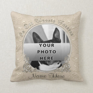Photo and Personalized Dog Sympathy Gift Ideas Throw Pillow
