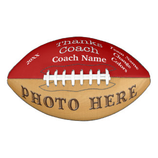 PHOTO and PERSONALIZED Football Gifts for Coaches