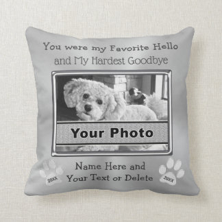 PHOTO and Personalized Pet Memorial Pillow