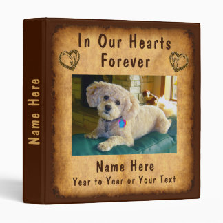 Photo and Personalized Pet Remembrance Gifts Binder