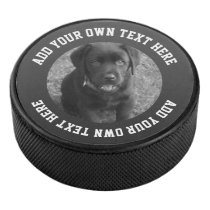 Photo And Text Personalized Unique Hockey Puck