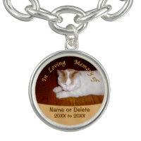 Photo and Text Pet Remembrance Bracelet