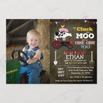 PHOTO/ANY AGE - Farm Boy Birthday Invitation