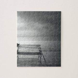 Photo art black white art deco vintage memory jigsaw puzzle