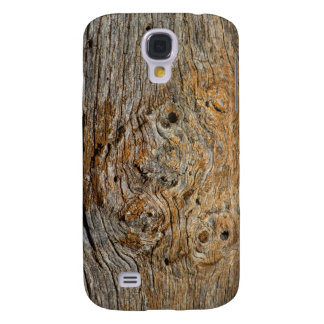 Photo Art Knotty Old Wood Gnarly Cabin Board Galaxy S4 Case