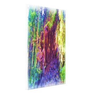 Photo art of fallen tree canvas print