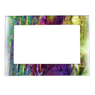 Photo art of fallen tree picture frame magnets