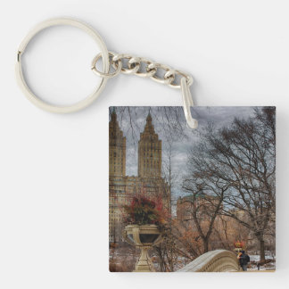Photo at Bow Bridge in Central Park, NYC Acrylic Keychains