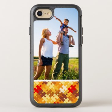 Halloween Themed Photo Autumn colors puzzle background OtterBox Symmetry iPhone 8/7 Case
