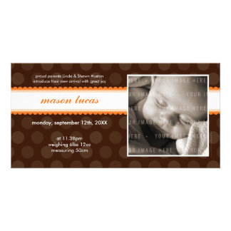 PHOTO BABY ANNOUNCEMENT :: chocolate drop 5