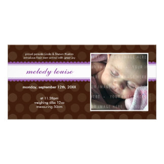 PHOTO BABY ANNOUNCEMENT :: chocolate drop 8