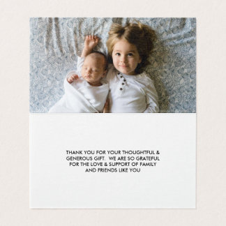 Photo Baby Shower | Thank You Note Card