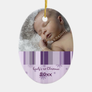Photo Baby's 1st Christmas Ornament