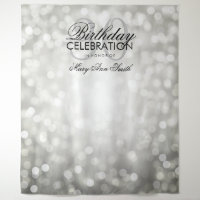 Photo Backdrop 30th Birthday Silver Glitter Lights