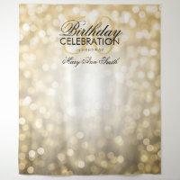 Photo Backdrop 50th Birthday Gold Glitter Lights