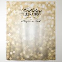 Photo Backdrop 50th Birthday Gold Glitter Lights