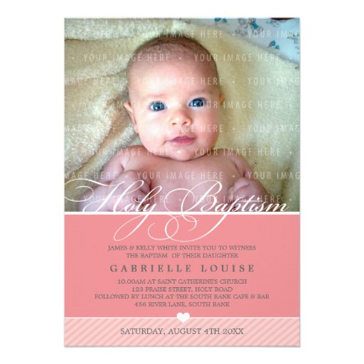 PHOTO BAPTISM INVITE :: lovely type 1