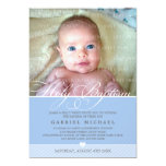 "PHOTO BAPTISM INVITE :: lovely type 5 5"" X 7"" Invitation Card"