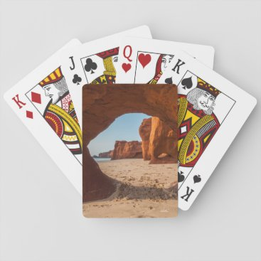 photo beach and course playing cards