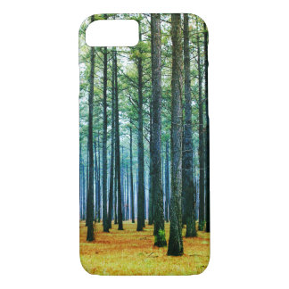 Photo Beautiful Pine Tree Forest Yellow Grass iPhone 7 Case