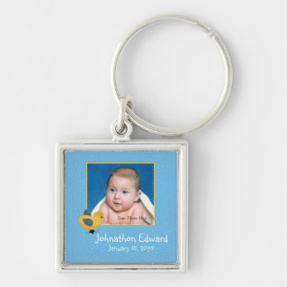 Photo Birth Annoucement Cute Baby Chick Keychain