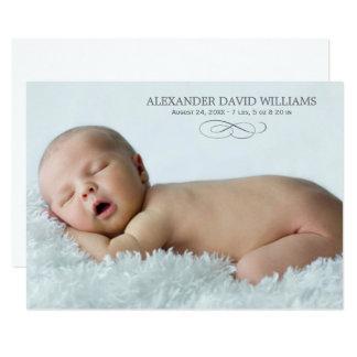 Photo Birth Announcement Card | Simple Elegance