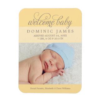 Photo Birth Announcement | Custom Color Magnet