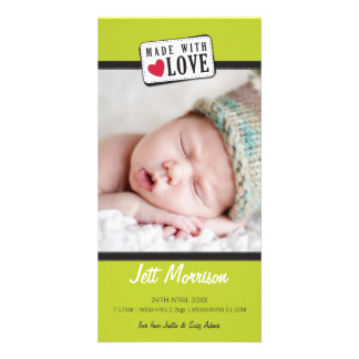 PHOTO BIRTH ANNOUNCEMENT :: made with love 1