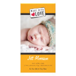 PHOTO BIRTH ANNOUNCEMENT :: made with love 2 Photo Card