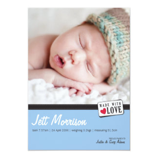 PHOTO BIRTH ANNOUNCEMENT :: made with love 3